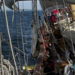 The wind whistles in the rigging